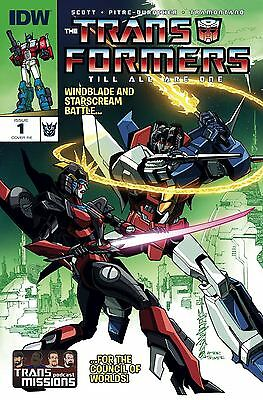 IDW Transformers Till All Are One #1 Exclusive TransMissions RE Variant Cover