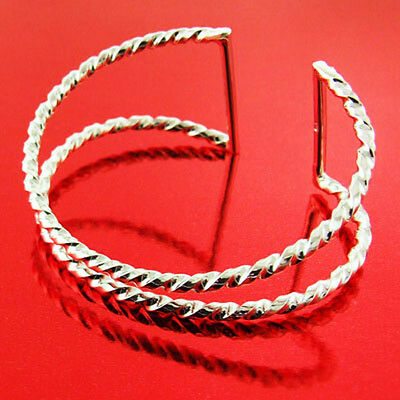 Ol6 Genuine Hallmarked Real 925 Solid Sterling Silver Cuff Bracelet Bangle
