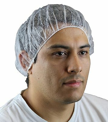 Disposable PLUS Hair nets Bouffant Cap, White, Size 19, 100 Pack