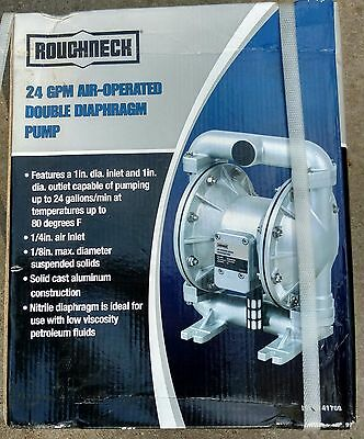 "Air-Operated 1"" Double / Dual Diaphragm Pump, 1in. NPT Inlet & Outlet"