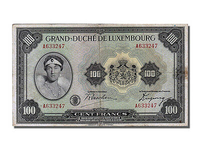 [#253070] Luxembourg, 100 Francs, 1934, KM #39a, VF(30-35), A 633247