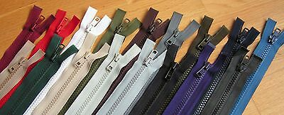 Zips, Chunky Teeth, Open End, Many Colours and Lengths, for Coat, Anorak, Jacket