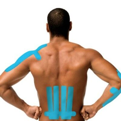 5M BLUE KINESIOLOGY SUPPORT TAPE Elastic Physio Sport Muscle Strapping Relief
