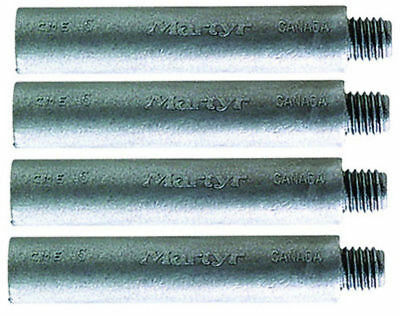 "New Martyr Anodes 1/2"" X 1-3/4"" Pencil Zinc Anode Only Mtr Cmez1D 4 Pack"