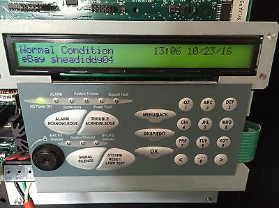 FCI 7100 LCD Display Keypad Only Working Tested