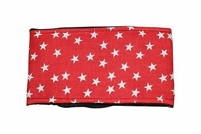 dog belly band red stars fabric stop marking incontinence spraying stud boys