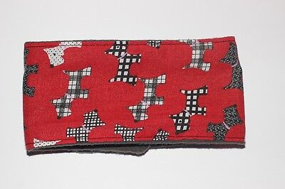 dog belly band red scottie dog fabric male stud boys washable reusable puppy