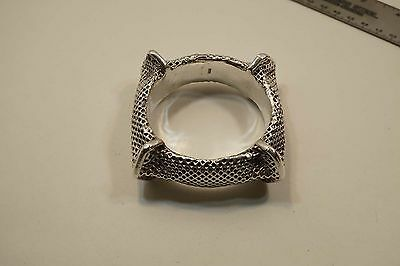 Nice Unusual 925 Silver Modernist Style Hollow Bangle Bracelet 70.9 Gr  A403