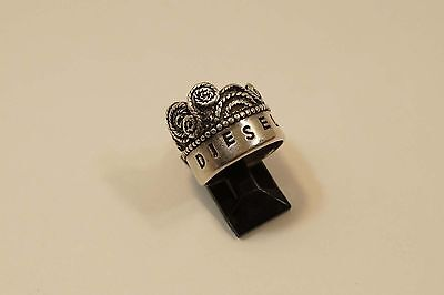 Diesel Sterling Silver Unusual Ornate Ring Size 7 1/2  A376
