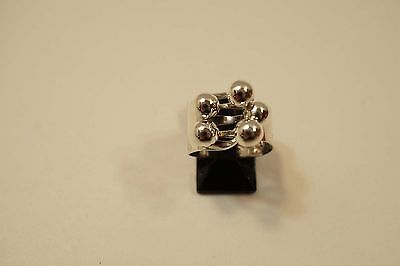 Mexico Sterling Silver Modernist Ring Signed Mr (Melicio Rodriguez??)  A383