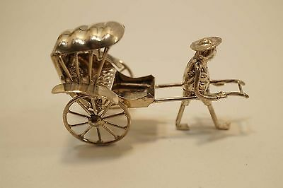 Vintage Chinese Silver Miniature Rickshaw A302