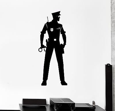 Vinyl Wall Decal Police Officer Law Policeman Cop Stickers (282ig)