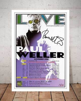Paul Weller Live 2008 Concert Flyer Autographed Signed Photo Print