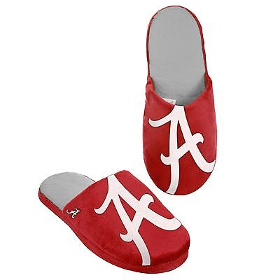 Alabama Crimson Tide Slippers Team Colors Logo NEW Two Toned House shoes BLG
