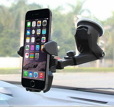 Universal Car 360° Windshield Mount Holder Stand For iPhone& Android Phone GPS J