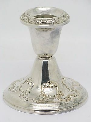 Gorham Sterling Silver Weighted Candle Holder Chantilly Pattern