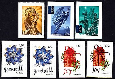 Australia 2016 Christmas Complete Set of Stamps S/A Ex Booklet