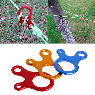 Quick Knot Tent Wind Rope Buckle 3 Holes Antislip Camping Tightening Hook