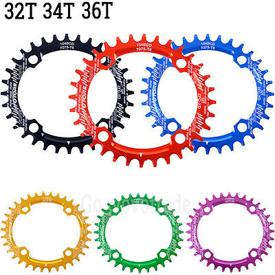 32T 34T 36T 104BCD Ultralight Bike Bicycle Alloy Chainring Oval Round Chainwheel
