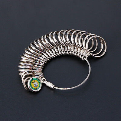 Hot Easy To Use 0-13 Finger Ring Metal Sizer Gauge Measure Jewelry Size Tools