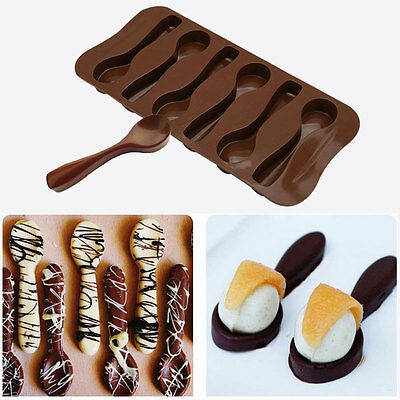 Silicone Spoon Baking Mold Chocolate Biscuit Candy Jelly Baking Mold 20.5*11CM