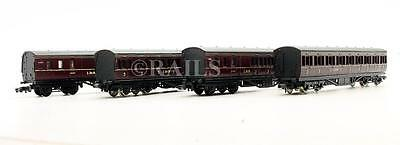 Graham Farish 'n' Gauge Rake Of 4 Assorted Lms Passenger Coaches (6N)