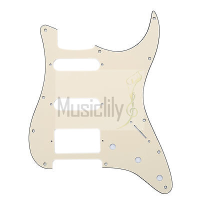 Cream 3Ply HSS Pickguard Plate For Fender Stratocaster Strat ST Electric Guitar