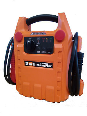 12v 1800amp Portable Jump Starter Car Battery Start Power Booster Rescue Pack