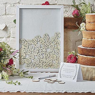 New Ginger Ray Drop Top Wooden Frame Alternative Wedding Guest Book Boho