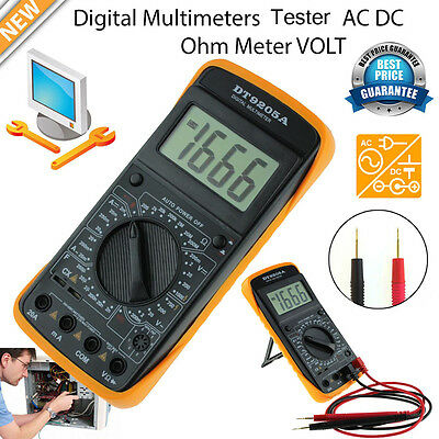 Auto Range Electric Digital LCD Volt Meter Multimeter Tester Ammeter AC DC OHM