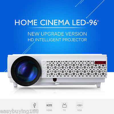 LED 96+ 5000 Lumens FULL HD 1080P Heimkino Projector Projektor Beamer 2000:1