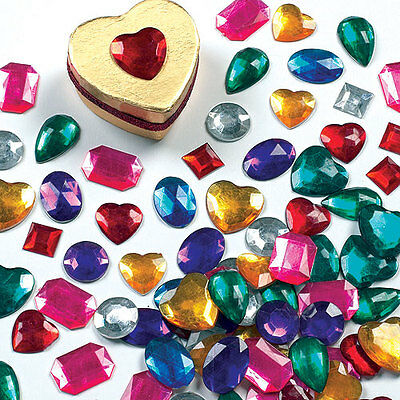 Large Self Adhesive Acrylic Gems for Kid's Craft & Collage (Pack of 120)