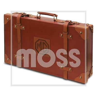 Classic Style Brown Leather Suitcase With Mg Logo - Gac9811X
