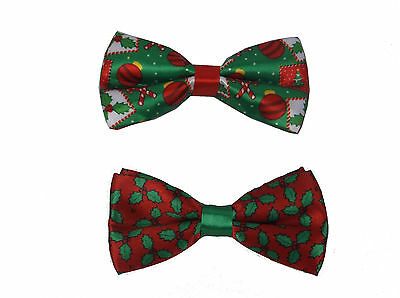 Christmas Bow Tie Mens Christmas Bow Tie Christmas Festive Novelty Bow Tie Gift