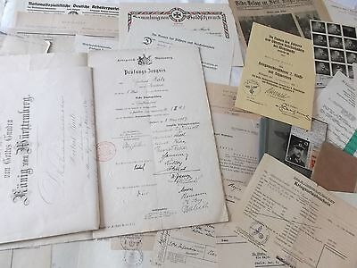 london England born  German officers large document grouping 1902-1945