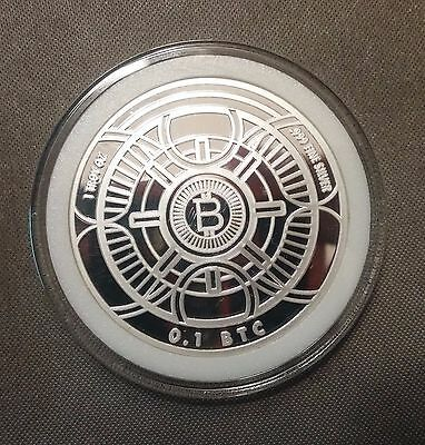 CryptoImperator Bitcoin Silver 1oz. Physical Loaded 0.1[btc] ONLY 25 MADE!!!!