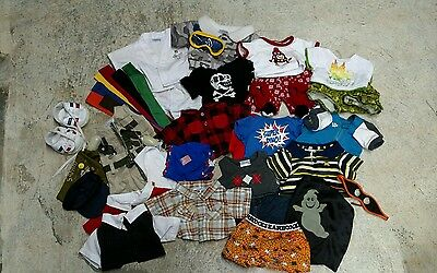 HUGE LOT of 41 Build A Bear Items Clothing Shoes, Accessories!!
