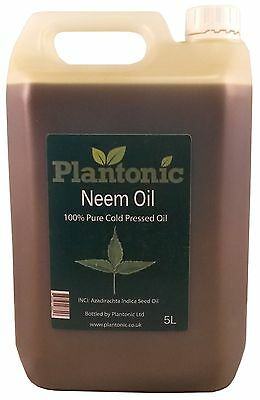 Neem Oil, 100% Pure & Natural Organic Cold Pressed Carrier Oil - 5 Litres