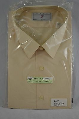"VINTAGE 1980s SHADES by TOOTAL mens ivory cream shirt 17"" NEVER WORN IN PACKET"