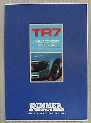 TRIUMPH TR7 RIMMER BROS Body Styling Kit Sales Brochure 1989