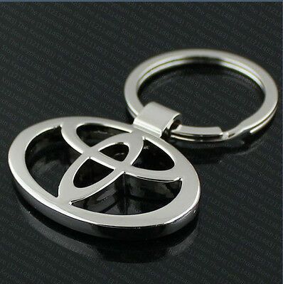 3D Metal Chrome Toyota car keyring key ring key chain Yaris Avensis Auris Prius