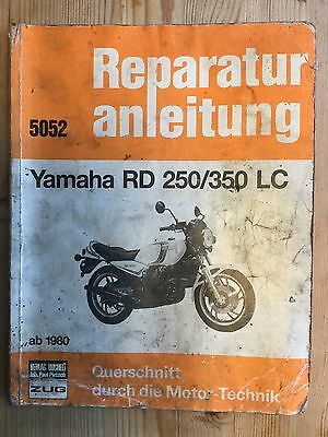 Yamaha Rd250Lc  350Lc Rz350 Reparaturanleitung 1980 5052 Workshop Manual German!