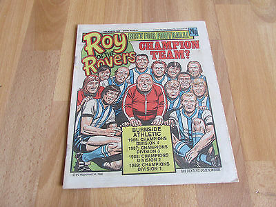 ROY of the ROVERS Classic Weekly Football Comic15/03/86 - 15th March 1986