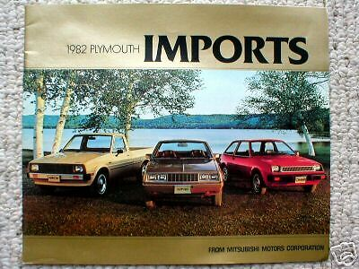 1982 PLYMOUTH (Mitsubishi) IMPORT's Brochure / Catalog : SAPPORO,ARROW,