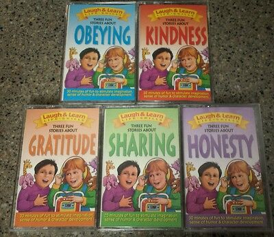Laugh & Learn Life Skills lot of 5 Cassettes Sharing Obeying Honesty Kindness