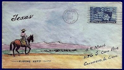MAUL Hand Drawn Hand Painted Event Cover : 1947 the city of Abilene in Texas