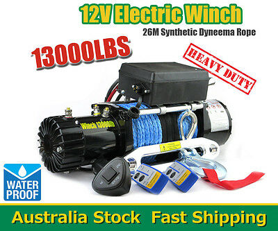 13000LBS/5897KGS Electric Winch Synthetic Rope Wireless ATV 12V 4WD BOAT TRCUK
