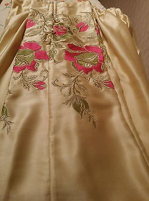 Pakistani embroided silk trousers in Small size