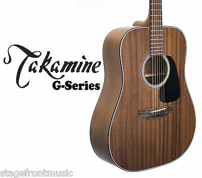 TAKAMINE MAHOGANY GD11MNS ACOUSTIC STEEL STRING DREADNOUGHT GUITAR - see video