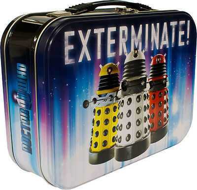 DOCTOR WHO ~ Dalek 3-Up Exterminate! Metal Lunchbox (Ikon Collectables) #NEW